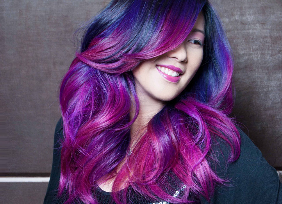 Colores de fantasia en pelo